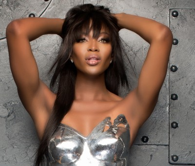 Naomi Campbell for Newbridge Silverware with Barry McCall